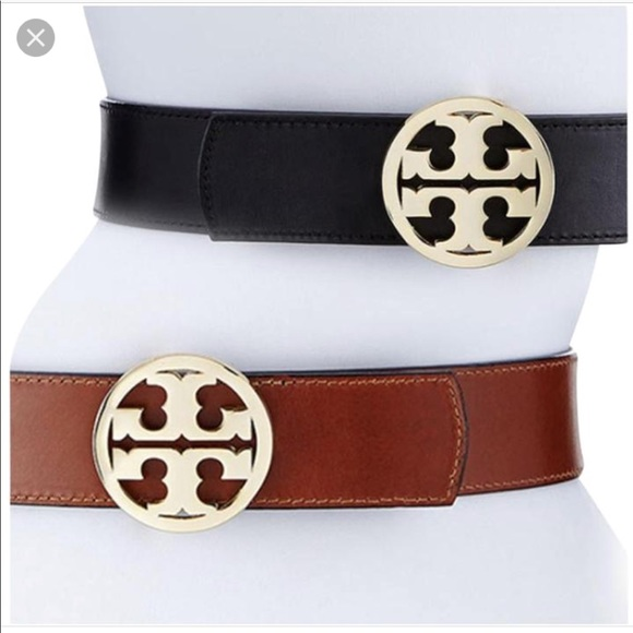 c9e5fdfecbbc Tory Burch Black Brown reversible belt. M 5b4955dfbaebf64e2b0c530e